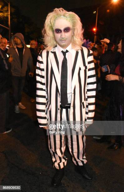 A general view of atmosphere of Beetlejuice at West Hollywood Halloween Carnaval on October 31 2017 in West Hollywood California