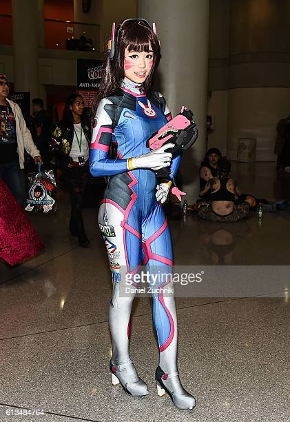 A general view of atmosphere of cosplayers during the 2016 New York Comic Con Day 3 on October 8 2016 in New York City