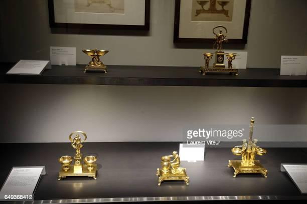 A general view of atmosphere of Dessiner L'Or et L'Argent Odiot Orfevre Exhibition Launch at Musee Des Arts Decoratifs on March 7 2017 in Paris France