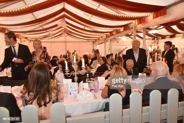 A general view of atmosphere of La Guinguette des Tuileries during 'La Femme Dans Le Siecle' Dinner on July 5 2018 in Paris France