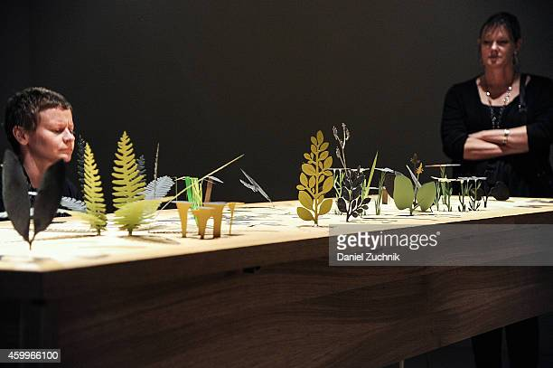 A general view of atmosphere of the Ephemera exhibit at Design Miami Vernissage on December 4 2014 in Miami Beach Florida