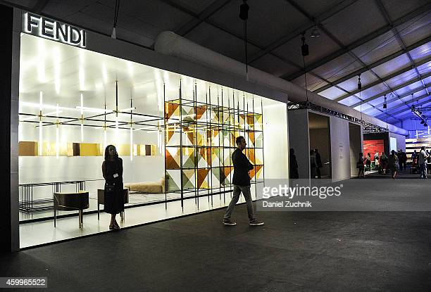 A general view of atmosphere of the Fendi exhibit at Design Miami Vernissage on December 4 2014 in Miami Beach Florida