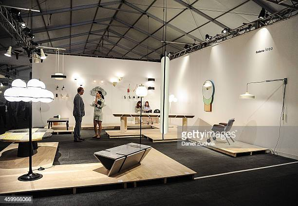 A general view of atmosphere of the Galerie Kreo exhibit at Design Miami Vernissage on December 4 2014 in Miami Beach Florida