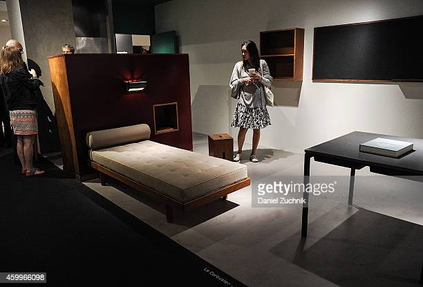 A general view of atmosphere of the Galerie Patrick Seguin exhibit at Design Miami Vernissage on December 4 2014 in Miami Beach Florida