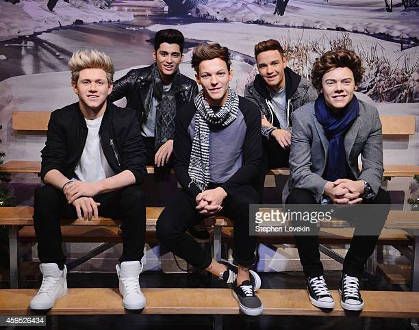 A general view of atmosphere of the One Direction Wax Figures at Madame Tussauds New York on November 24 2014 in New York City