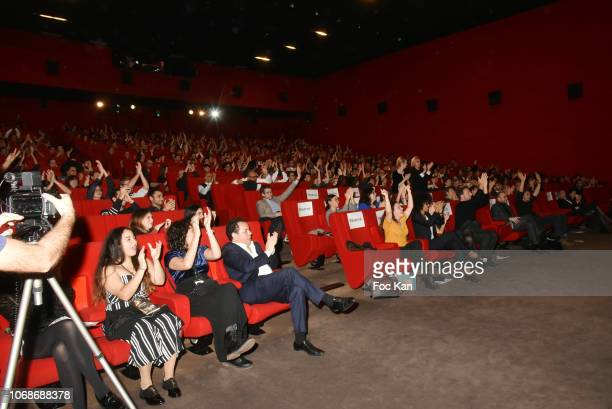 A general view of atmosphere of the public during 'Mobile Film Festival Stand Up 4 Human Rights Awards' Ceremony Hosted by Youtube Creators For...