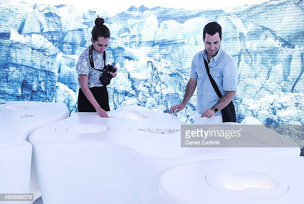 A general view of atmosphere of the Swarovski exhibit at Design Miami Vernissage on December 4 2014 in Miami Beach Florida