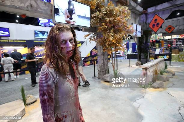 A general view of atmosphere of The Walking Dead Our World Booth during Comic Con 2018 Preview Day on July 18 2018 in San Diego California