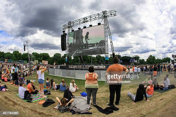 General view of atmosphere on Day 4 of British Summer Time festival at Hyde Park on July 6 2014 in London United Kingdom