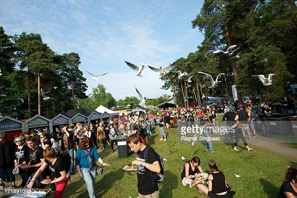 A general view of atmosphere on Day 4 of Rock The Beach Festival on June 29 2013 in Helsinki Finland