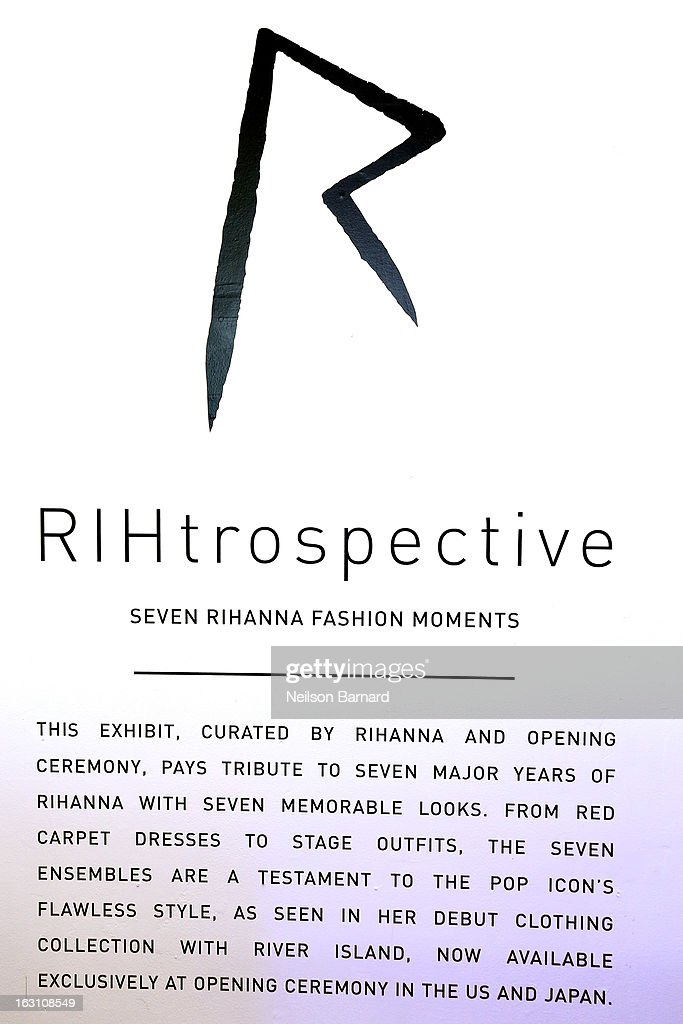 A general view of atmosphere on display at the Opening Ceremony RIHtrospective: Seven Rihanna Fashion Moments at Opening Ceremony on March 4, 2013 in New York City.