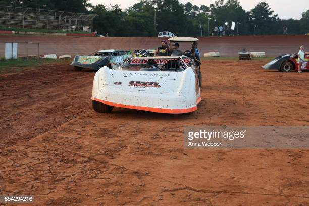 General view of atmosphere On The Set Of The Movie Trading Paint on September 14 2017 in Talladega Alabama