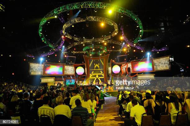 A general view of atmosphere onstage during Nickelodeons 2008 Kids Choice Awards held at the Pauley Pavilion on March 29 2008 in Westwood California