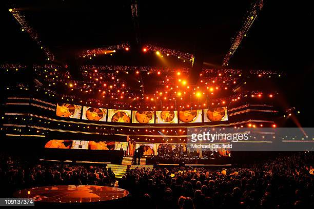 General view of atmosphere onstage during The 53rd Annual GRAMMY Awards held at Staples Center on February 13 2011 in Los Angeles California