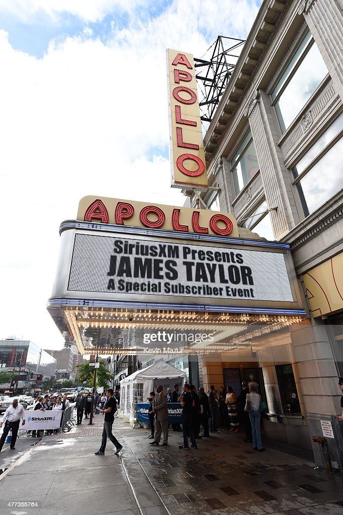 A general view of atmosphere outside before James Taylor performs during SiriusXM Presents James Taylor Live at The Apollo Theater on June 16, 2015 in New York City.