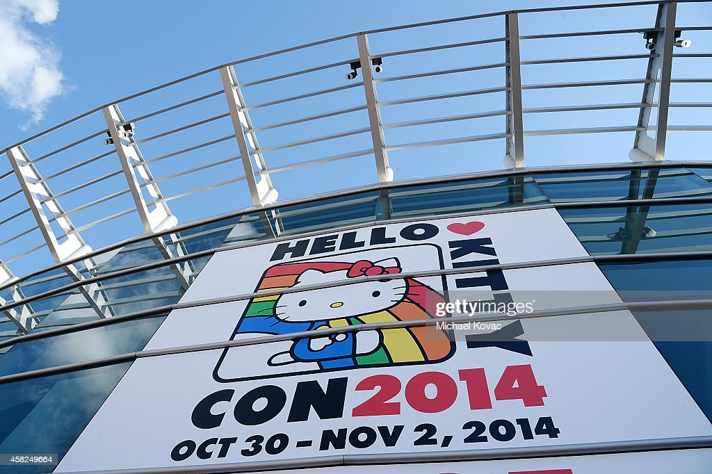 General view of atmosphere outside Hello Kitty Con 2014 at The Geffen Contemporary at MOCA on November 1, 2014 in Los Angeles, California.