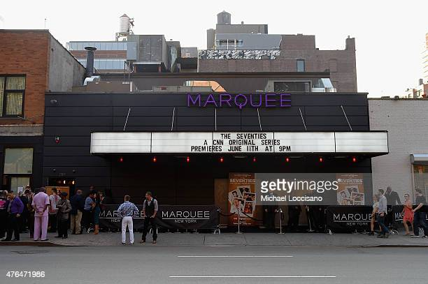 A general view of atmosphere outside the CNN The Seventies Launch Party at Marquee on June 9 2015 in New York City 25520_006JPG