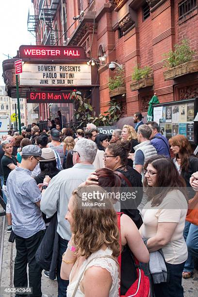 A general view of atmosphere outside the Paolo Nutini Concert at Webster Hall on June 12 2014 in New York City