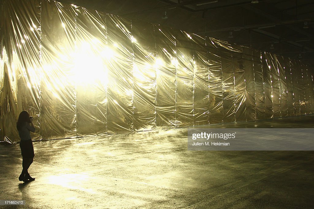 A general view of atmosphere prior the Dries Van Noten Menswear Spring/Summer 2014 show as part of the Paris Fashion Week on June 27, 2013 in Paris, France.