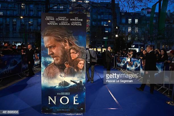 A general view of atmosphere prior the Paris Premiere of 'NOAH' at Cinema Gaumont Marignan on April 1 2014 in Paris France
