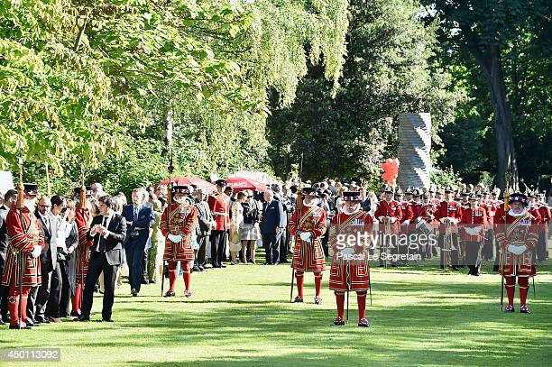 A general view of atmosphere prior to a reception honoring Queen Elizabeth II at the British Embassy during an Official visit in Paris ahead of the...