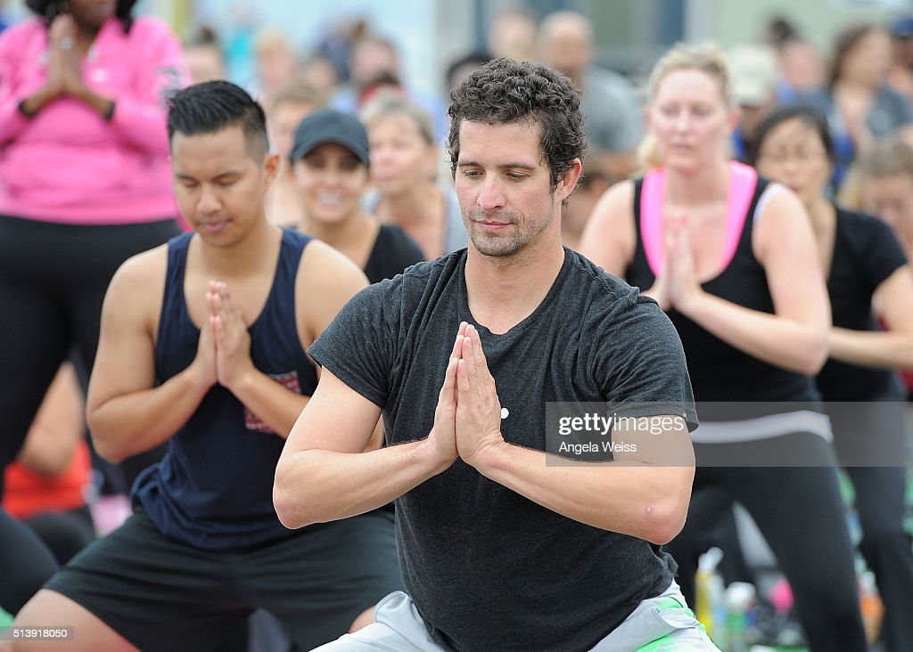 Launch Of Fitbit Local Free Community Workouts In Los Angeles At The Santa Monica Pier : News Photo