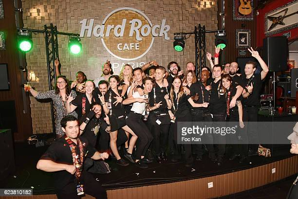 A general view of atmosphere with barmaids and barmen during 'Hard Rock Cafe Paris 25th Anniversary Celebration' at Hard Rock Cafe on November 16...