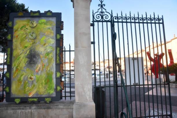 FRA: Chayan Khoi Exhibition Preview At Jardin de L'Annonciade Saint-Tropez
