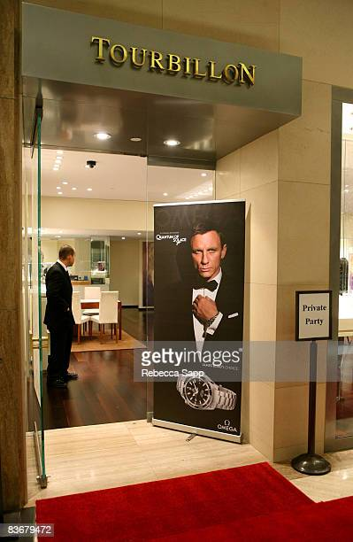 A general view of atmpsohere at OMEGA and Tourbillon Present 'Great Moments in Time with James Bond' at the South Coast Plaza on November 12 2008 in...