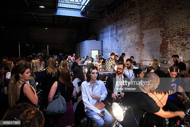 General view of atmpsphere as seen during JINsoon at Vera Wang Spring/Summer 2015 Collection at DiaChelsea on September 9 2014 in New York City