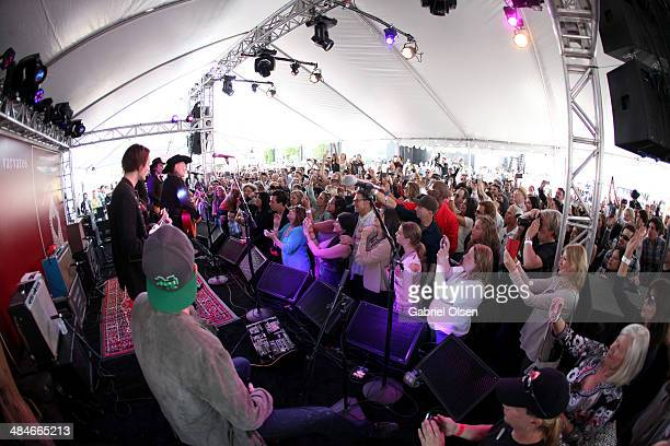 A general view of atomosphere at the John Varvatos 11th Annual Stuart House Benefit presented by Chrysler Kids Tent by by Hasbro at John Varvatos...