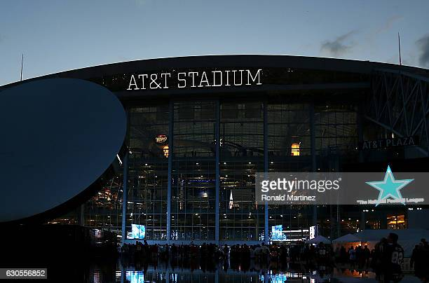General view of AT&T Stadium before a game between the Detroit Lions and the Dallas Cowboys on December 26, 2016 in Arlington, Texas.