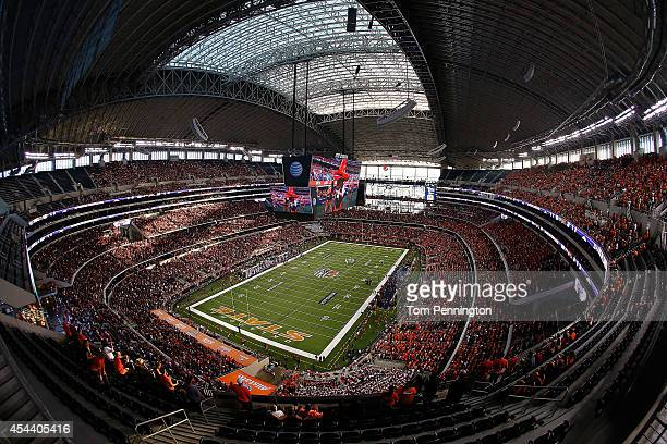 A general view of ATT Stadium before the Advocare Cowboys Classic between the Oklahoma State Cowboys and the Florida State Seminoles on August 30...