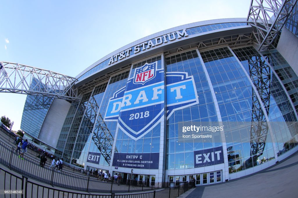 A General View of AT&T Stadium prior to the second and third rounds of the 2018 NFL Draft on April 27, 2018, at AT&T Stadium in Arlington, TX.