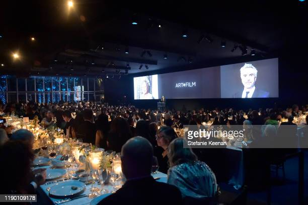 General view of audience at the 2019 LACMA Art Film Gala Presented By Gucci at LACMA on November 02 2019 in Los Angeles California