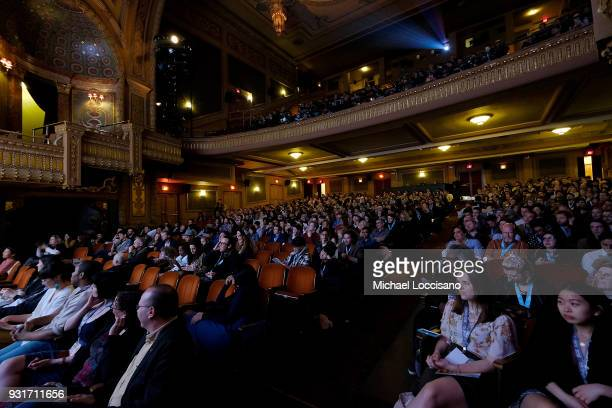 General view of audience members attending the 2018 SXSW Conference and Festivals at Paramount Theatre on March 13 2018 in Austin Texas