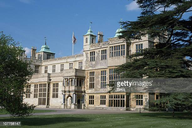 A general view of Audley End House a 17th century manor house renowned as one of the finest Jacobean houses in England Saffron Walden Essex circa 1990