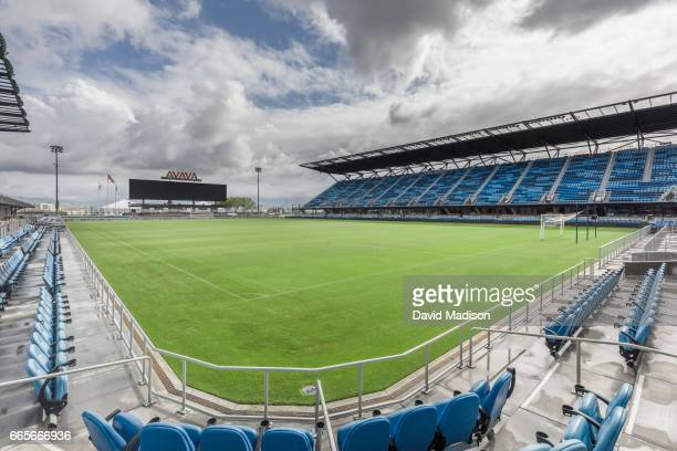 A general view of Avaya Stadium before a FIFA 2018 World Cup Qualifier match between the United States and Honduras to be played March 24 2017 at...