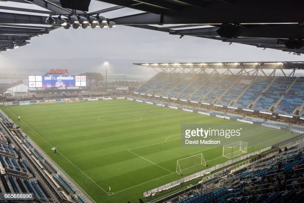 A general view of Avaya Stadium before a FIFA 2018 World Cup Qualifier match between the United States and Honduras played on March 24 2017 at Avaya...