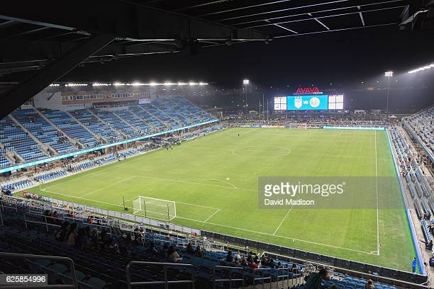 A general view of Avaya Stadium during a women's soccer match between the USA and Romania played on November 10 2016 in San Jose California