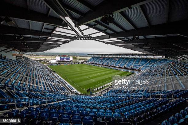 A general view of Avaya Stadium during the FIFA 2018 World Cup Qualifier between USA and Honduras at Avaya Stadium on March 24 2017 in San Jose...