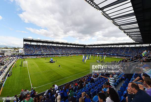 A general view of Avaya Stadium prior to an MLS game between the Chicago Fire and San Jose Earthquakes on March 22 2015 in San Jose California