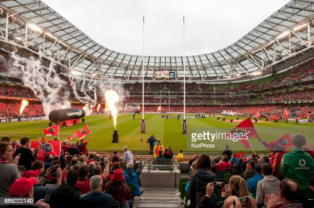 General view of Aviva Stadium before the Guinness PRO12 Final between Munster Rugby and Scarlets at Aviva Stadium in Dublin, Ireland on May 27, 2017