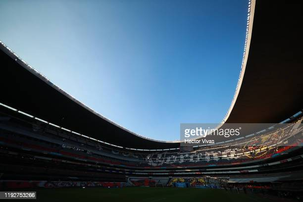General view of Azteca stadium before the Semifinals second leg match between America and Morelia as part of the Torneo Apertura 2019 Liga MX at...