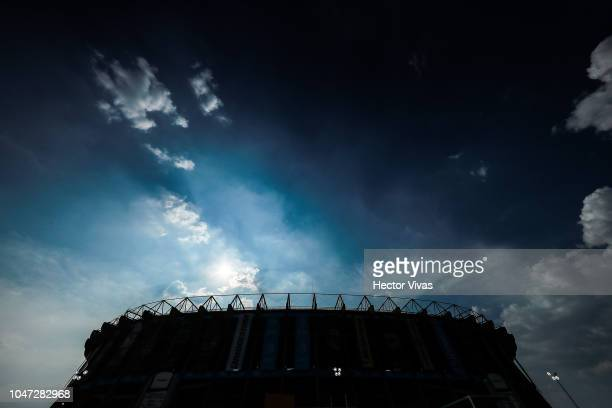 General view of Azteca stadium prior the 11th round match between America and Chivas as part of the Torneo Apertura 2018 Liga MX at Azteca Stadium on...