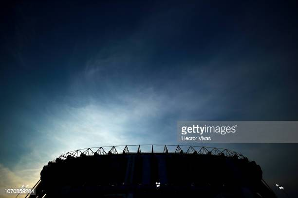 General view of Azteca stadium prior the semifinal second leg match between America and Pumas UNAM as part of the Torneo Apertura 2018 Liga MX at...