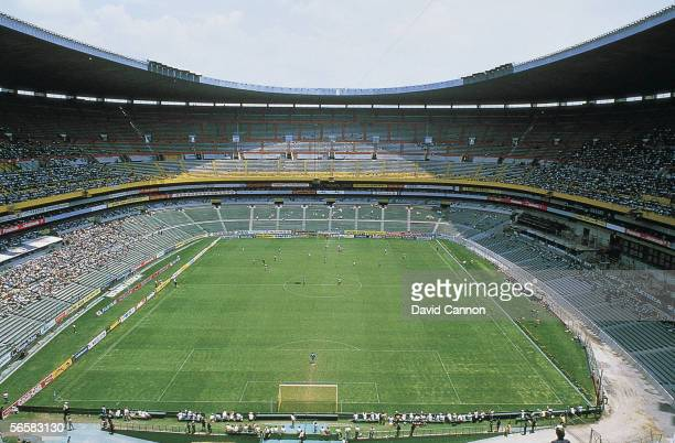 A general view of Azteca Stadium taken circa 1980 in Mexico City Mexico