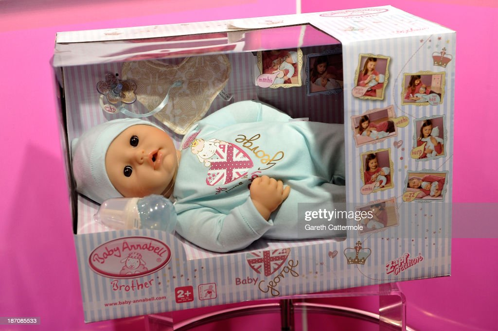 A general view of Baby George at the Dream Toys 2013 press day at St Mary's on November 6, 2013 in London, England.