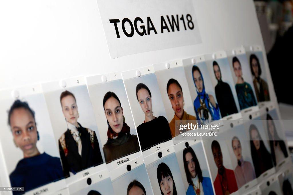 Toga - Backstage - LFW February 2018 : ニュース写真
