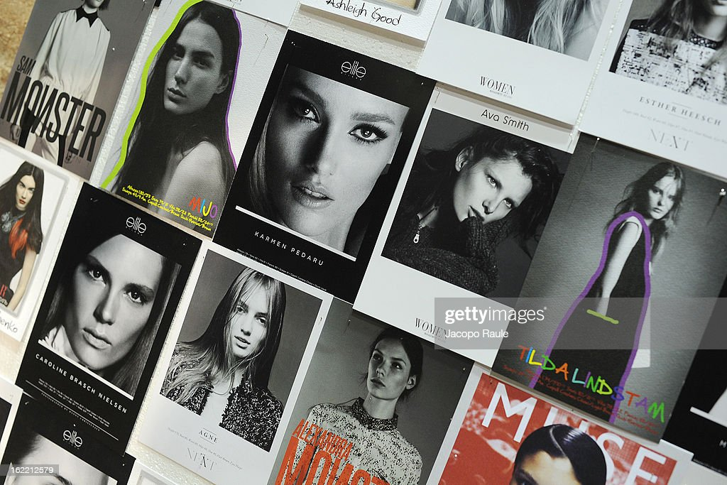 General view of backstage of the Francesco Scognamiglio show during Milan Fashion Week Womenswear Fall/Winter 2013/14 on February 20, 2013 in Milan, Italy.